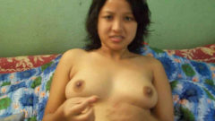 Desi horny big boobs bhabi nude bathing front of lover'