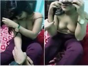 Hot Desi Girl Boobs Capture By Lover
