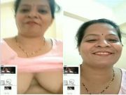 Sexy Bhabhi Showing Her Boobs and Pussy On Video Call part 2