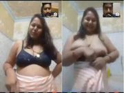 Sexy Cheating Bhabhi Showing her Big Boob to Lover On Video Call