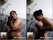 Sexy Figure Boudi Bathing On Video call