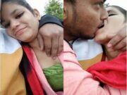 Hot Desi Lover OutDoor Kissing and Romance