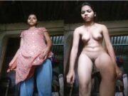 Desi Girl Record Nude Selfie
