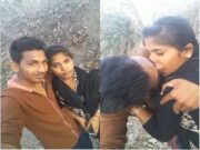 Desi Lover OutDoor Romance and Kissing