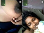 Lankan Wife Showing Boobs to Hubby On Video call