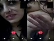Sexy Desi Bhabhi Showing Her Boobs and Pussy On Video call