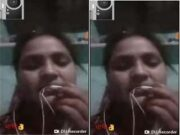 Today Exclusive-Hot Look Desi Girl Mitali Showing Her Boob and Pussy On video Call part 2