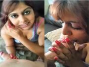 Beautiful UK Indian Girl Blowjob