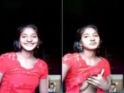 Shy Desi Girl Showing Her Boobs On Video Call