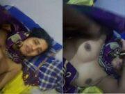Sexy bhabhi Boob pressing and Fucked by Hubby