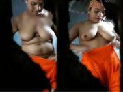 Desi Boudi bathing Record in Hidden Cam