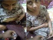 Desi Telugu Bhbhai Boos pressing and Handjob