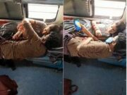 Newly Maried Cpl Romance In Train Record On Hidden Cam
