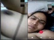 Sexy Bhabhi Showing Her Boobs and Pussy On Video Call