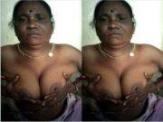 Village Aunty Showing Her Boobs