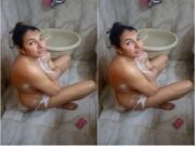 Today Exclusive-Paki Wife Bathing Record by Hubby Part 3