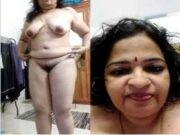 Horny Mallu Bhabhi Record her Nude Video For Lover Part 1