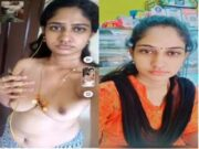 Sexy Telugu Bhabhi Showing Her Nude Body TO Lover On Video Call Part 2