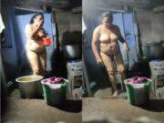 Desi Mature Telugu Bhabhi Bathing Record In Hidden Cam
