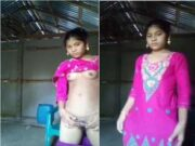 Cute Bangla Girl Showing Her Boobs and Pussy