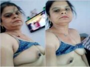 Horny Bhabhi Showing Her Boobs and Pussy