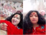 Today Exclusive-Sexy Nepali Bhabhi Showing Her Boobs and Pussy