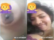 Today Exclusive- Cute Bangla Girl Showing Her Nude Body TO lover On Video Call