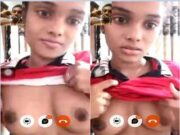 Today Exclusive- Cute Lankan Girl Showing Boobs On video Call